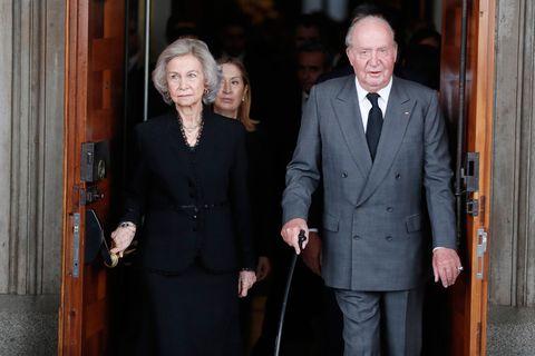 Don Juan Carlos y Doña Sofía acuden a dar al último adiós a Alfredo Pérez Rubalcaba, Capilla Ardiente Rubalcaba