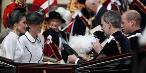 Reyes de España y Duques de Cambridge desfile Orden de la Jarretera