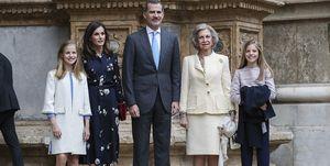 *LA FAMILIA REAL ESPAÑOLA ACUDE A LA MISA DE PASCUA 2019 EN PALMA DE MALLORCA