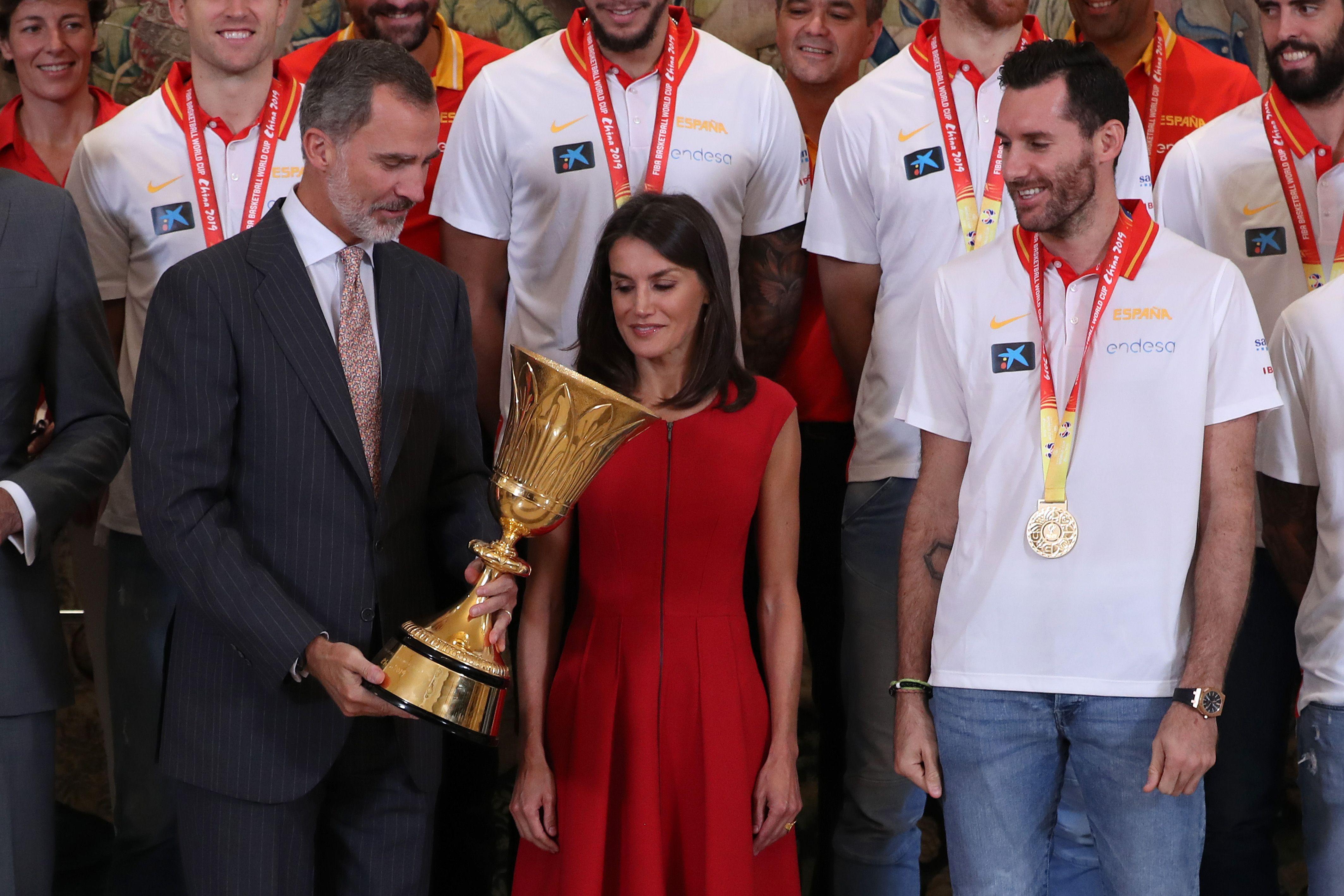 Los Reyes de España reciben a los Campeones del Mundo de baloncesto