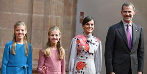 Felipe, Letizia, Leonor, Sofía Familia Real