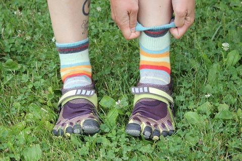 Toe Shoes With Tall Socks