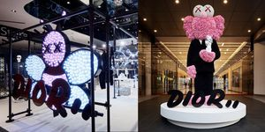 Dior, DiorMen, KAWS, Pop-up, 信義新天地 A11, 男裝, 時尚,信義區,台北逛街, DIOR MEN , BFF公仔, 新光三越, 蜜蜂, 馬鞍包, 迪奧,快閃店