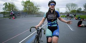 Robyn Hightman at Kissena Velodrome in Queens, NY on April 27, 2019.