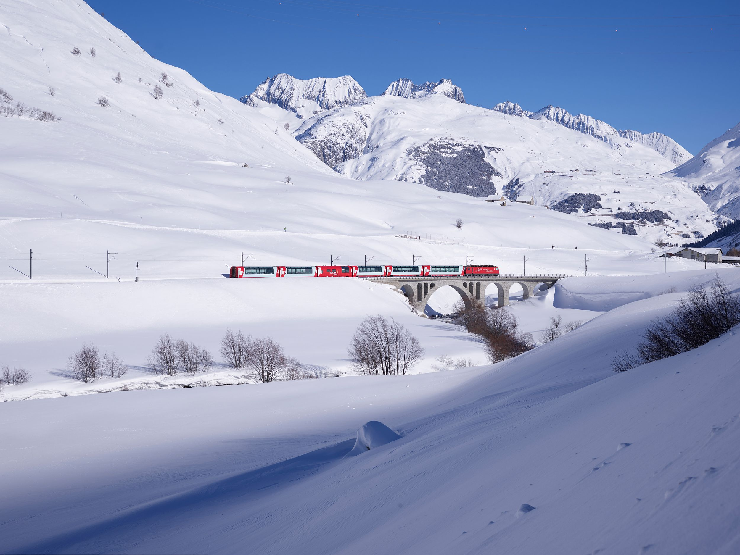 The photos that prove the Glacier Express is the most magical winter train ride
