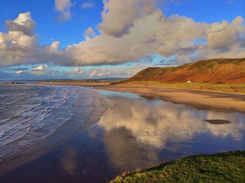 rhossili bay, gower peninsula, wales, uk