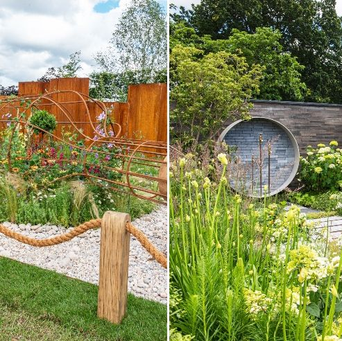 rhs hampton court garden festival 2021 medal winning gardens