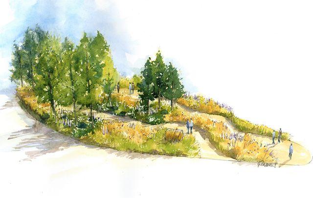 rhs chelsea flower show 2021 queen's green canopy garden