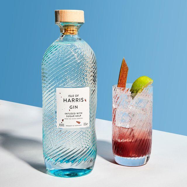 rhubarb lime rickey cocktail