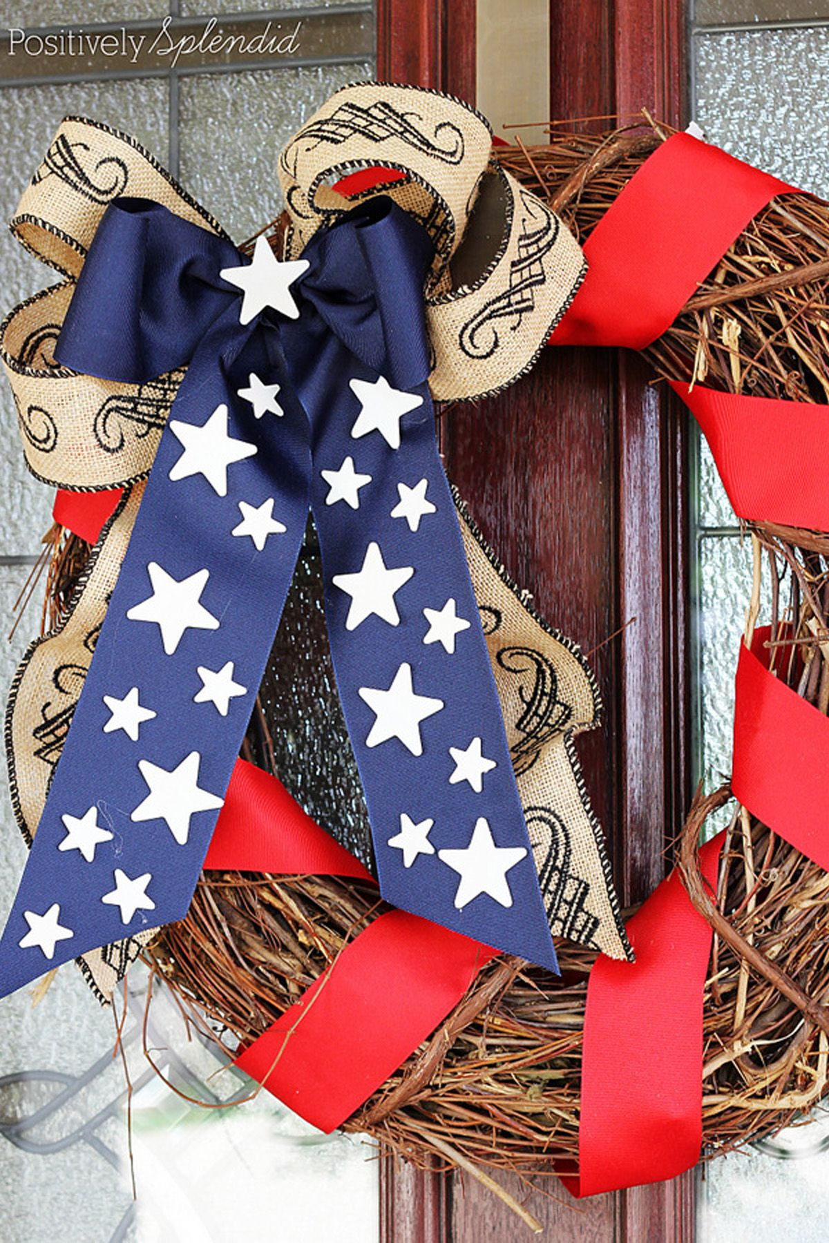 67b43f77404b 20 DIY 4th of July Wreaths - Easy Ideas for Fourth of July Wreath Crafts