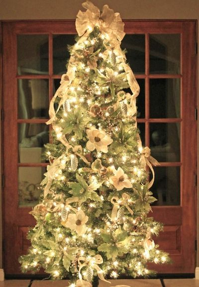 how to put ribbon on a christmas tree christmas decoration ideas. Black Bedroom Furniture Sets. Home Design Ideas