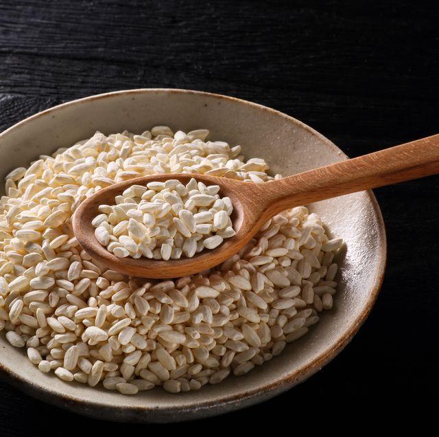 rice koji on black background