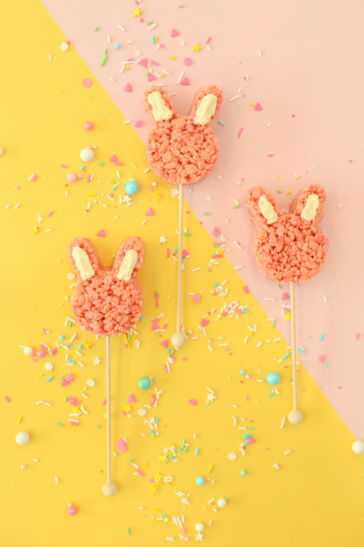 rice krispies easter bunny party idea