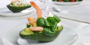 Avocado e gamberi