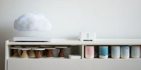 Shelf, Wall, Furniture, Room, Shelving, Table, Interior design,