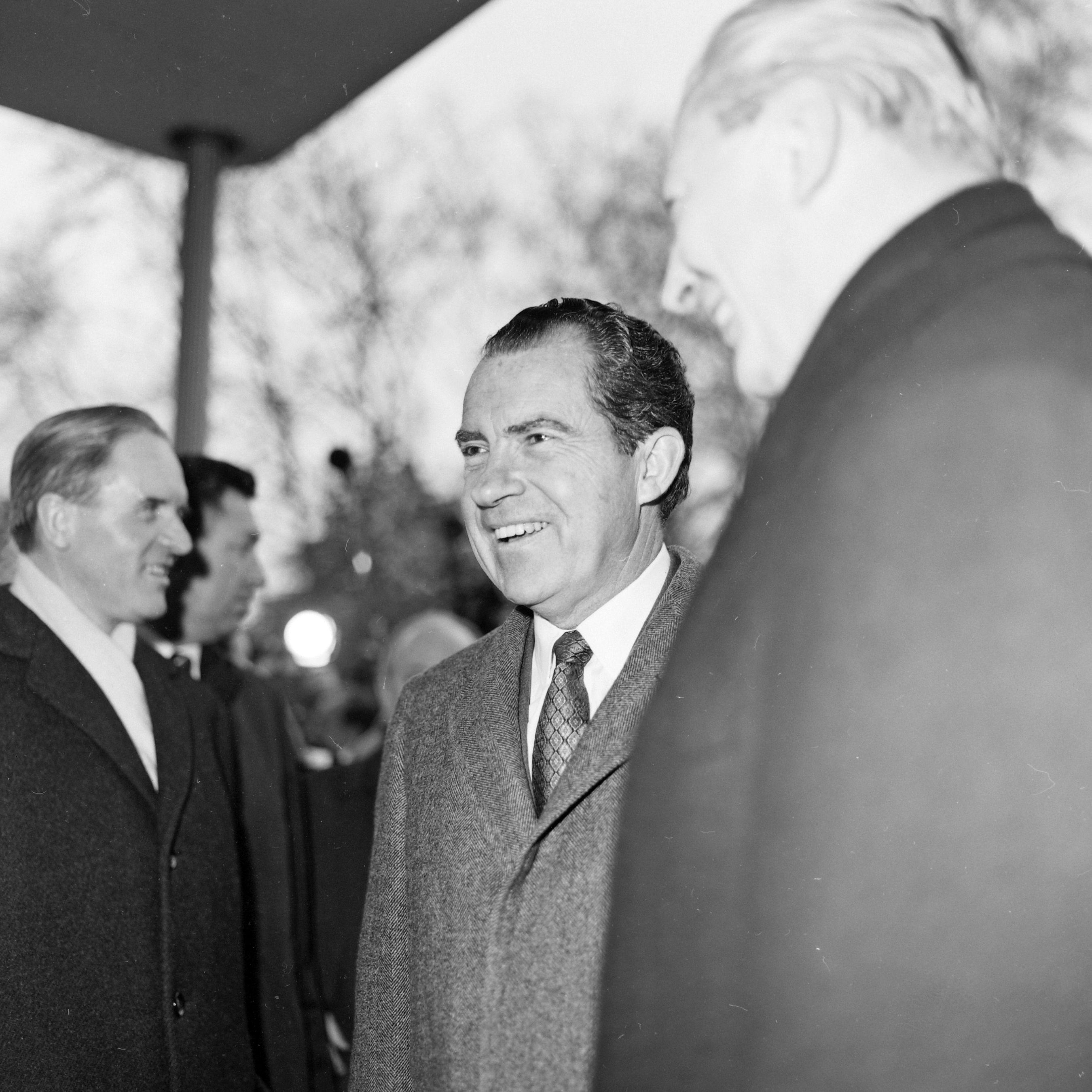 Richard Nixon – mit Kiesinger,26.02.1969. Bonn