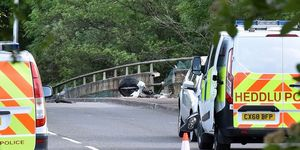 runner knocked off bridge in wales