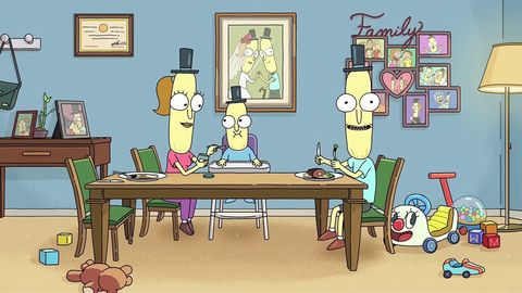 Rick and Morty Mr Poopybutthole family