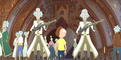 rick and morty vs genocider un anime spécial rick and morty court adulte swim con