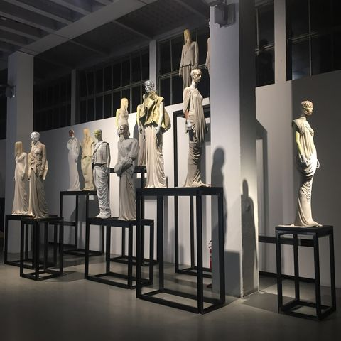 Sculpture, Museum, Column, Architecture, Art, Design, Collection, Building, Interior design, Visual arts,