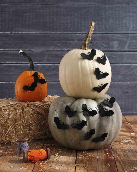 rick rack bat pumpkin
