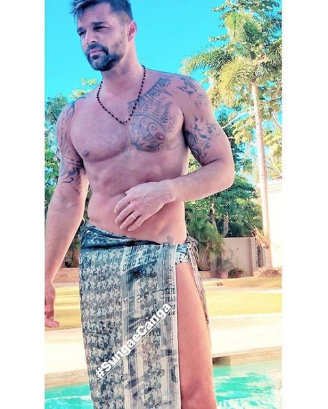 Clothing, board short, Barechested, Turquoise, Shorts, Muscle, Selfie, Chest, Trunks, T-shirt,