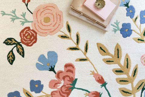 Botany, Pattern, Textile, Design, Floral design, Plant, Rose, Flower, Needlework, Pedicel,