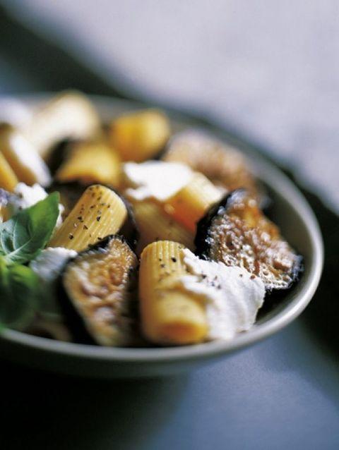 rigatoni met aubergine