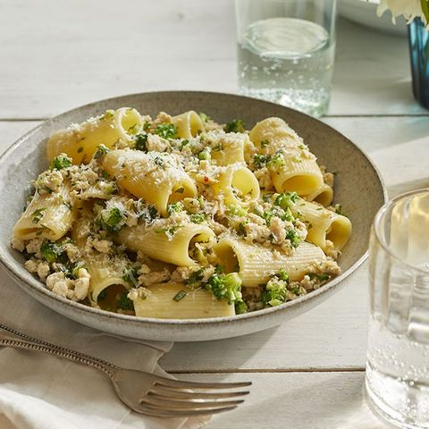 romantic dinner ideas - Rigatoni with Chicken and Broccoli Bolognese