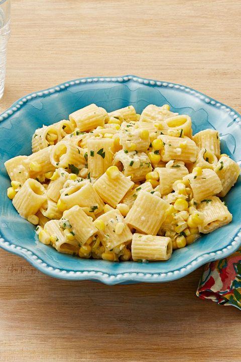 rigatoni with creamy corn