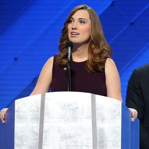 sarah mcbride at the democratic national convention in 2016