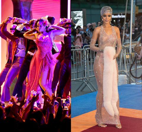 Fashion model, Red carpet, Fashion, Dress, Shoulder, Haute couture, Event, Carpet, Gown, Flooring,
