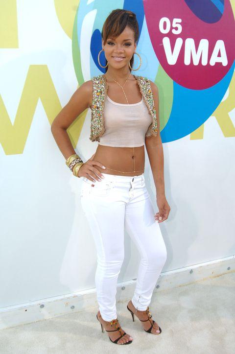 Rihanna MTV VMAs red carpet 2005