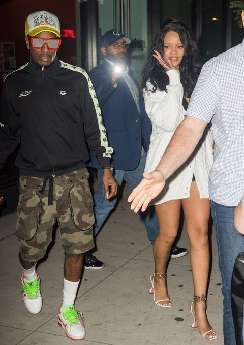 rihanna and a$ap rocky on their date