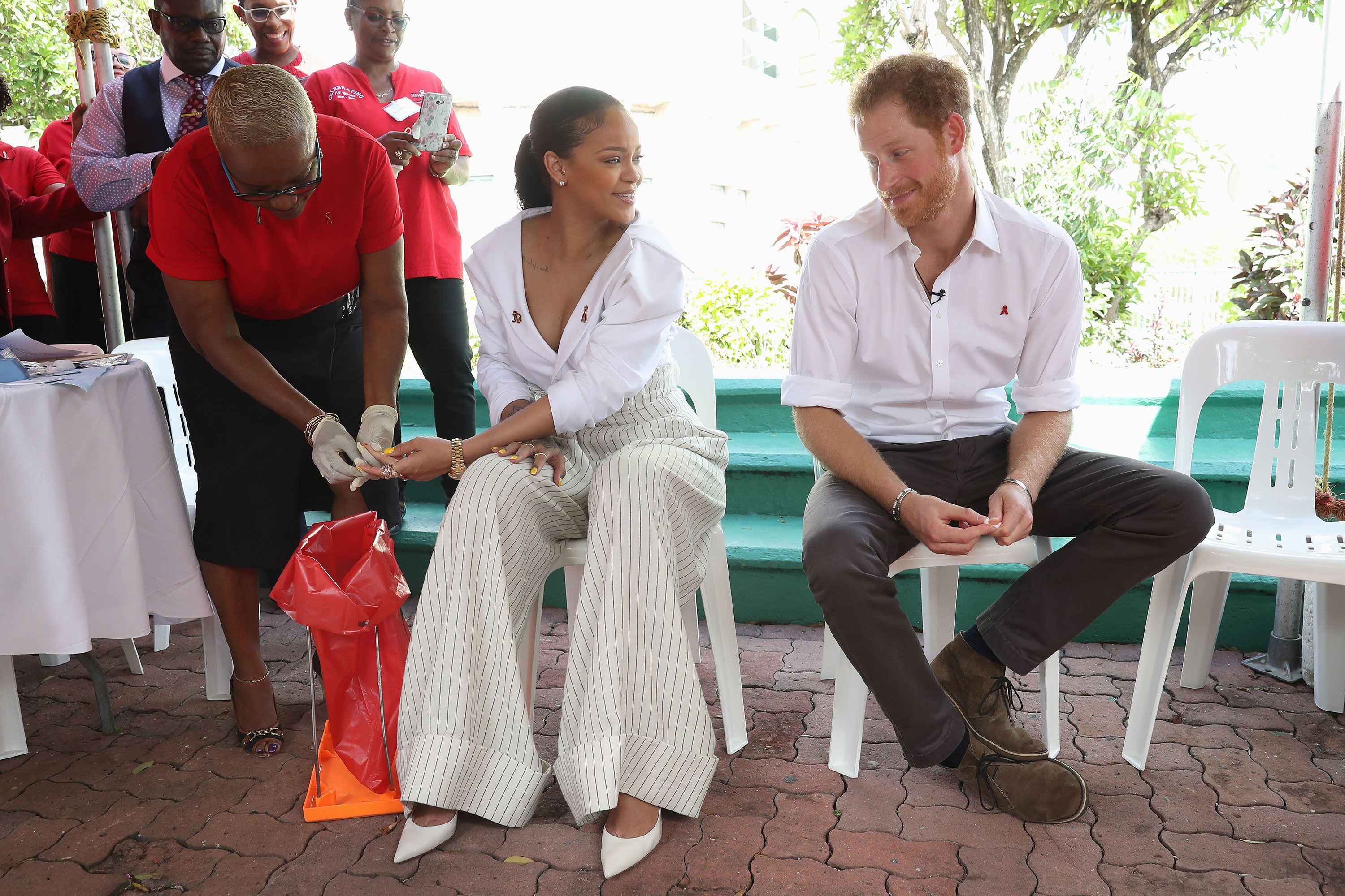Rihanna and Prince Harry in Barbados