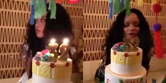 Outstanding How Rihanna Celebrated Her 32Nd Birthday Mexico Vacation Party Funny Birthday Cards Online Fluifree Goldxyz