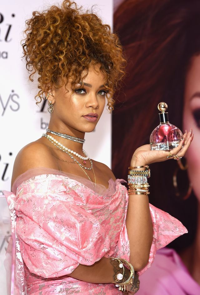 new york, ny   august 31  singer rihanna attends the riri by rihanna fragrance unveiling at macys downtown brooklyn on august 31, 2015 in new york city  photo by jamie mccarthywireimage