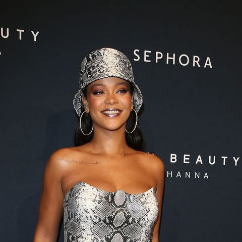 rihanna at fenty beauty event