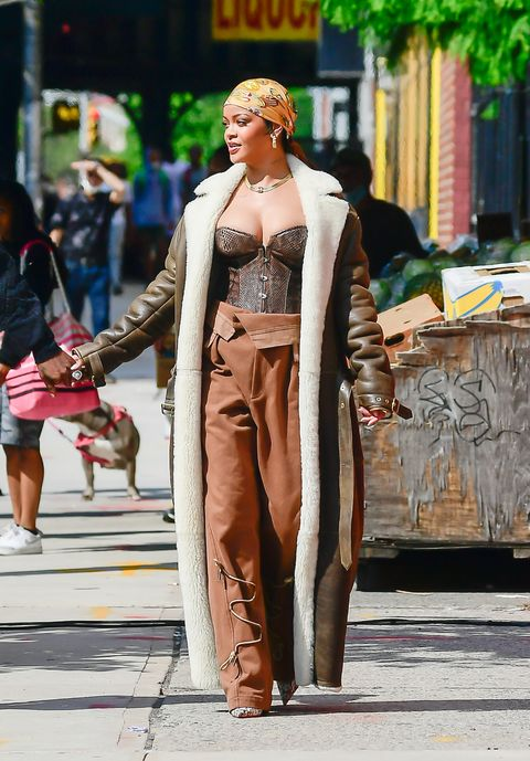 new york, ny   july 10  rihanna is seen filming a music video in the bronx  on july 10, 2021 in new york city  photo by raymond hallgc images