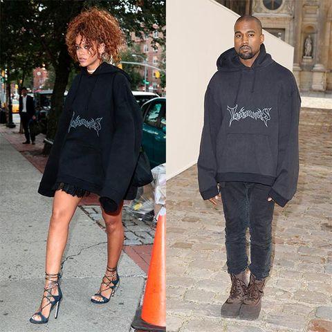 Rihanna y Kanye West, vestidos igual