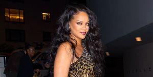 Rihanna leopard boeklancering nyc