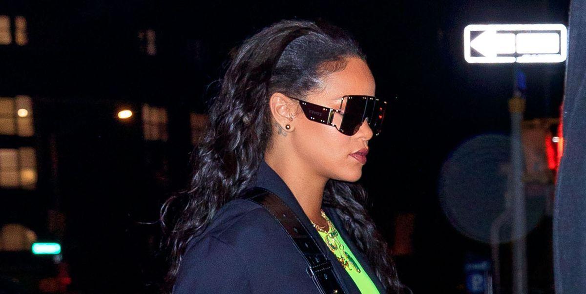 a9c416f8a3a Rihanna Wears Fenty Sunglasses