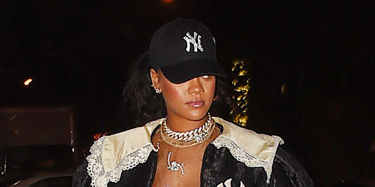 d666d906b34bb Rihanna in Blue Tulle Molly Goddard Gown - Fashion Sided