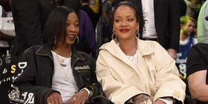 Rihanna tijdens een Los Angeles Lakers Game