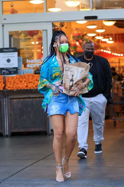 rihanna in los angeles on march 29, 2021