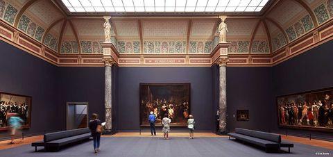 Het Rijksmuseum in Amsterdam.