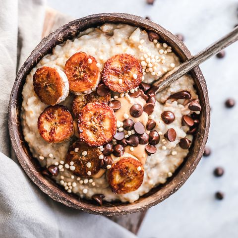 Rijstpudding met banaan recept en speculaas vegan