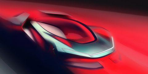 Automotive design, Red, Concept car, Car, Vehicle, Vehicle door, Carmine, Graphics,
