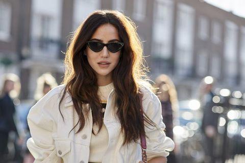 Eyewear, Hair, Sunglasses, Street fashion, White, Clothing, Fashion, Glasses, Lip, Hairstyle,