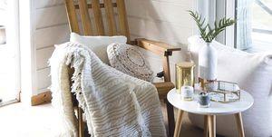 Rincón relax: Butaca lamas de madera